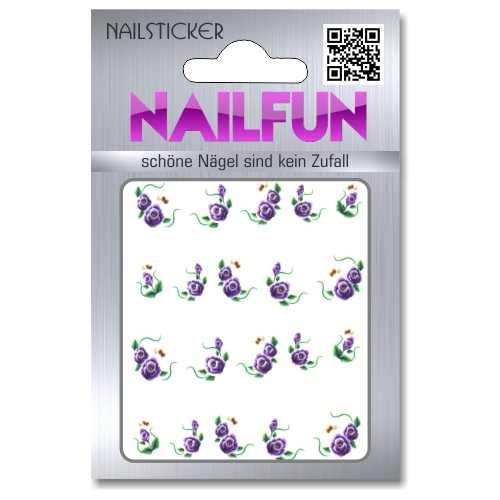 1 Bogen One Stroke Sticker BLE-801 (20 Stück) Nailsticker Nailtatoo Nailtattoo