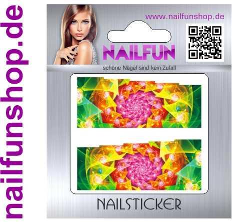 1 Bogen One Stroke Fullcover C094 Sticker Nailsticker