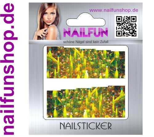 1 Bogen One Stroke Fullcover C095 Sticker Nailsticker