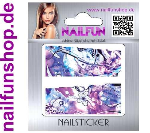 1 Bogen One Stroke Fullcover C100 Sticker Nailsticker