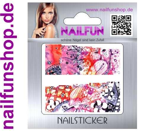 1 Bogen One Stroke Fullcover C101 Sticker Nailsticker