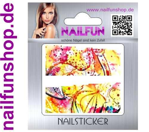 1 Bogen One Stroke Fullcover C102 Sticker Nailsticker