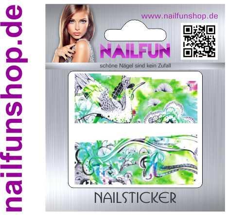1 Bogen One Stroke Fullcover C103 Sticker Nailsticker