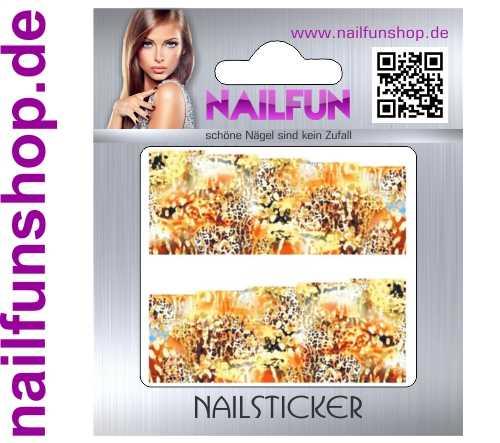 1 Bogen One Stroke Fullcover C117 Sticker Nailsticker