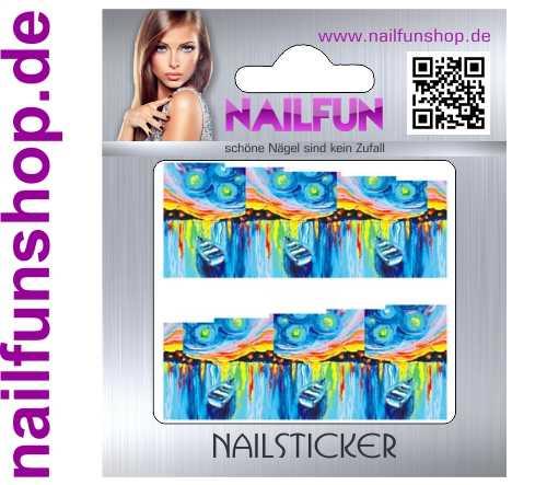 1 Bogen One Stroke Fullcover C138 Sticker Nailsticker