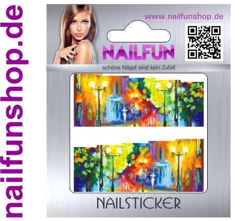 1 Bogen One Stroke Fullcover C139 Sticker Nailsticker