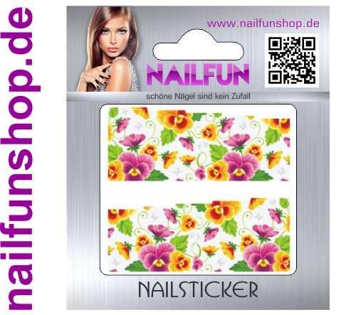 1 Bogen One Stroke Fullcover C158 Sticker Nailsticker