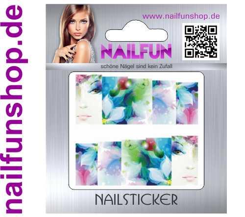 1 Bogen One Stroke Fullcover C167 Sticker Nailsticker