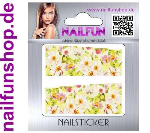 1 Bogen One Stroke Fullcover C177 Sticker Nailsticker