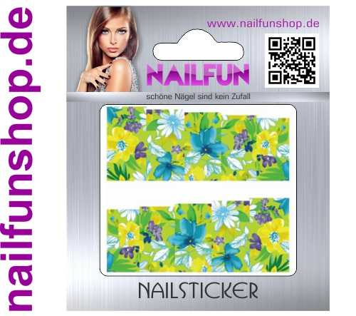 1 Bogen One Stroke Fullcover C178 Sticker Nailsticker