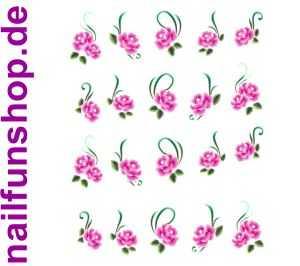 1 Bogen One Stroke Sticker BLE-045 (20 Stück) Nailsticker Nail-Tattoos