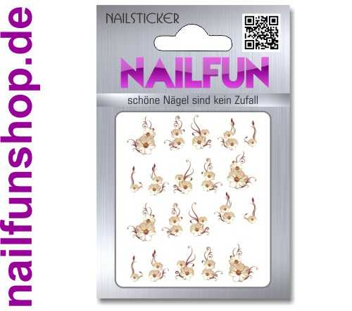 1 Bogen One Stroke Sticker BLE-101 (20 Stück) Nailsticker Nail-Tattoos