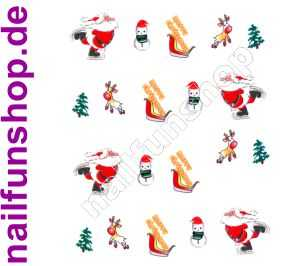 1 Bogen One Stroke Sticker BLE111 Nailsticker Weihnachten Christmas Nail-Tattoo