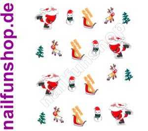 1 Bogen One Stroke Sticker BLE111 Nailsticker Weihnachten Christmas Nail-Tattoo