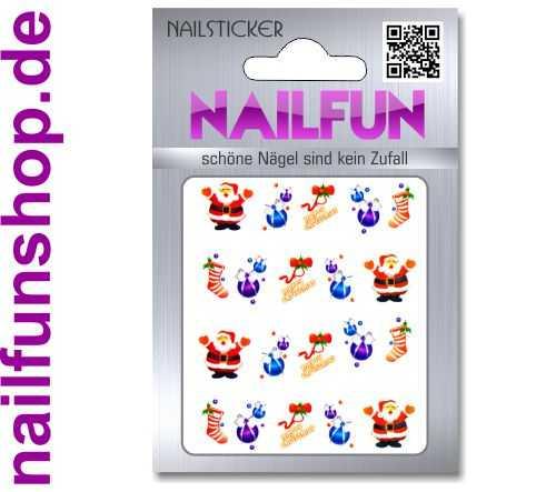 1 Bogen One Stroke Sticker BLE122 Nailsticker Weihnachten Christmas Nail-Tattoo