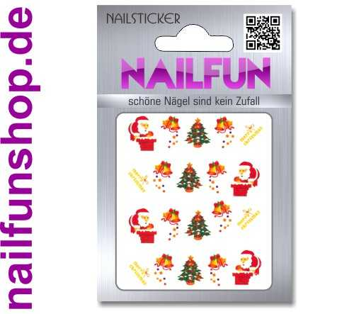 1 Bogen One Stroke Sticker BLE126 Nailsticker Weihnachten Christmas Nail-Tattoo