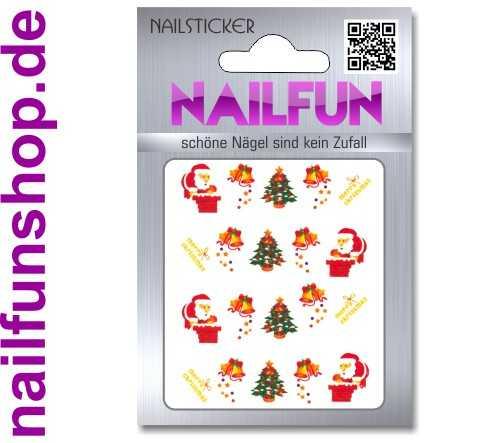 1 Bogen One Stroke Sticker BLE126 Nailsticker Weihnachten Christmas Nail-Tattoo