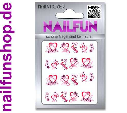 1 Bogen One Stroke Sticker BLE1323 (20 Stück) Nailsticker Nailart Nail-Tattoo