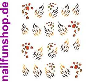 1 Bogen One Stroke Sticker BLE-167 (20 Stück) Nailsticker Tattoo Nail-Tattoos