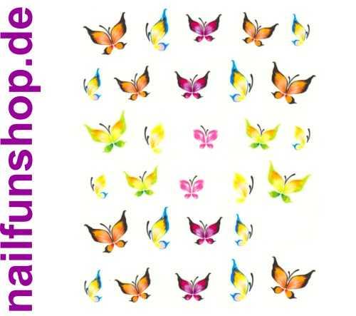 NAILFUN Bogen One Stroke Sticker Onestroke Schmetterlinge bunt