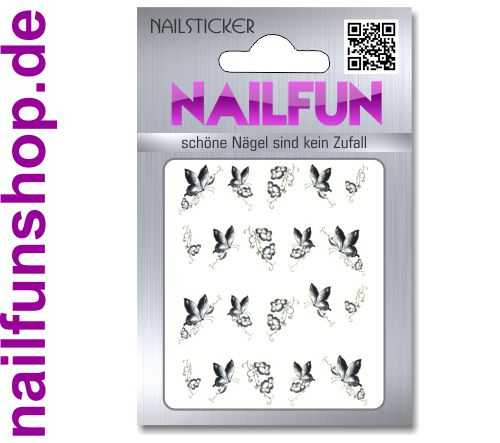 1 Bogen One Stroke Sticker BLE-246 (20 Stück) Nailsticker Nail-Tattoos Nailtatto