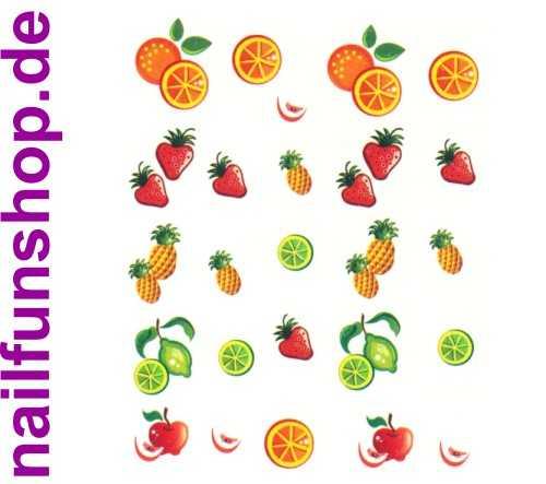 NAILFUN Bogen One Stroke Sticker Onestroke Früchte Fruits