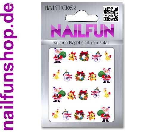 1 Bogen One Stroke Sticker BLE906 Nailsticker Weihnachten Christmas Nail-Tattoo