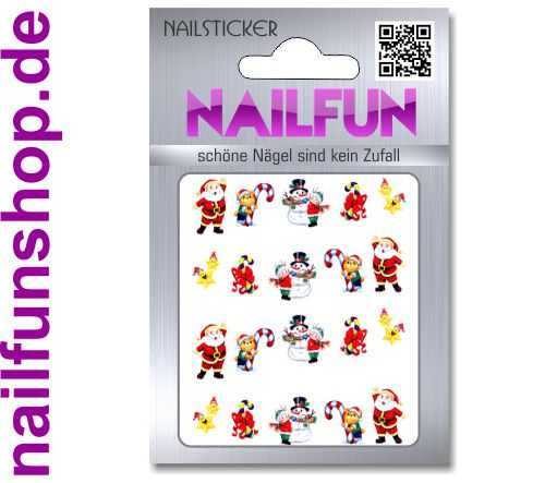 1 Bogen One Stroke Sticker BLE907 Nailsticker Weihnachten Christmas Nail-Tattoo