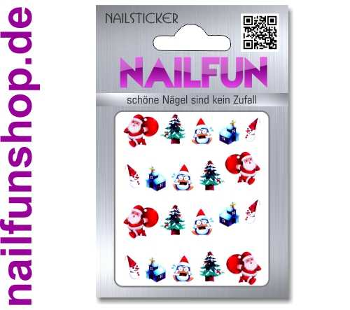 1 Bogen One Stroke Sticker BLE911 Nailsticker Weihnachten Christmas Nail-Tattoo