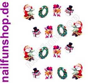 1 Bogen One Stroke Sticker BLE915 Nailsticker Weihnachten Christmas Nail-Tattoo