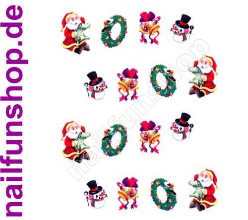1 Bogen One Stroke Sticker BLE915 Nailsticker Weihnachten Christmas Nail-Tattoo NAILFUN