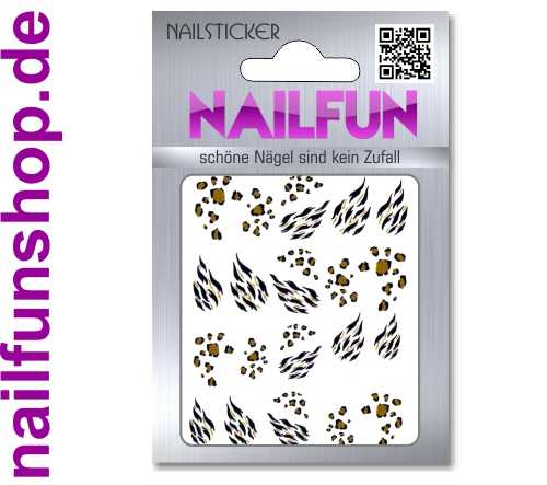 1 Bogen One Stroke Sticker BLE-174 (20 Stück) Nailsticker Nail-Tattoos Nailtatto