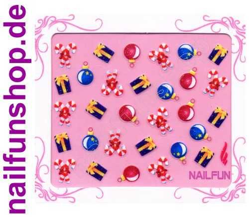 NAILFUN Weihnachten-Sticker 3D CR-05 selbstklebend Nailsticker Christmas-Sticker Nailtattoo Nail-Tattoo Weihnachten Weihnachtssticker Chrsitmas XMAS