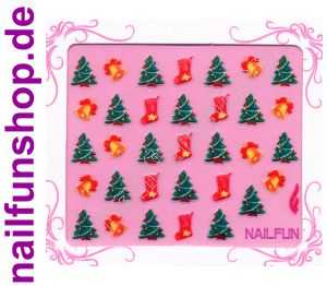 Weihnachten-Sticker 3D CR-19 selbstklebend Nailsticker Christmas-Sticker