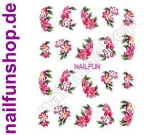 1 Bogen 3D Sticker E-005 (20 Stück) Blümchen Nailsticker Nailart Nail-Tattoo