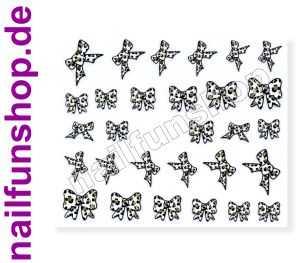 1 Bogen 3D Sticker E-39 (29 Stück) Leopard Nailsticker Nailart Nail-Tattoo