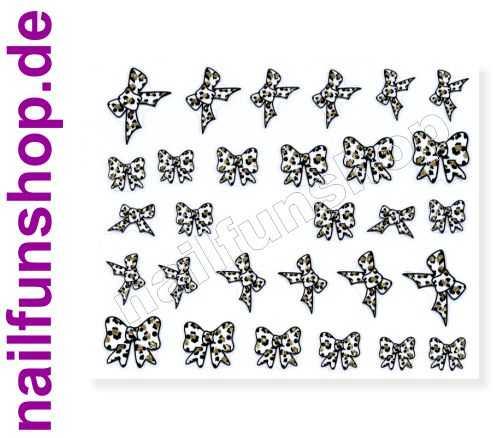 <title>NAILFUN 3D Nail Sticker Design E-39 Leoparden Muster Schleifen Leopard Nagelsticker Nailsticker Nail-Tattoos</title>