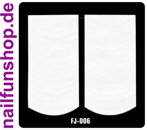 1 Bogen French Modellier Sticker FJ-006 (30 Stück) Hilfs-Sticker extrabreit