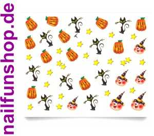 1 Bogen Halloween Grusel Sticker E060 Nailsticker Nailart Nail-Tattoo