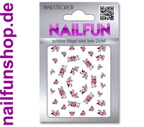 1 Bogen One Stroke Sticker K020 selbstklebende Nailsticker Nailart Nail-Tattoo