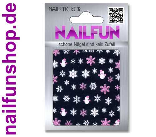 Weihnachten 3D Design Nail Sticker SN-101 Christmas Nagelsticker selbstklebend