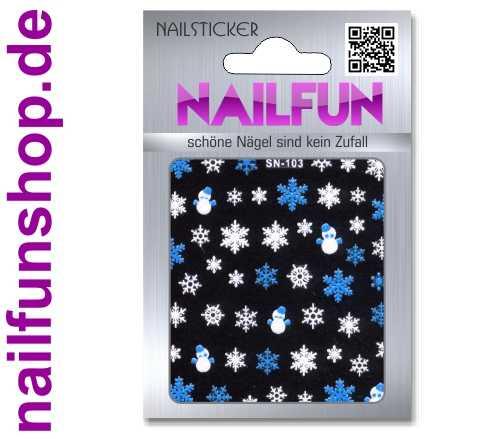 Weihnachten 3D Design Nail Sticker SN-103 Christmas Nagelsticker selbstklebend