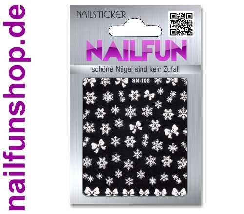 Weihnachten 3D Design Nail Sticker SN-108 Christmas Nagelsticker selbstklebend