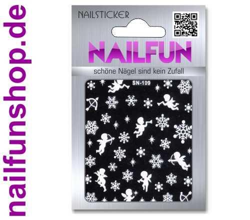Weihnachten 3D Design Nail Sticker SN-109 Christmas Nagelsticker selbstklebend