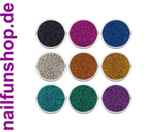 9 Döschen mit Kaviar Microperlen [für Microperlen Stamping Set]
