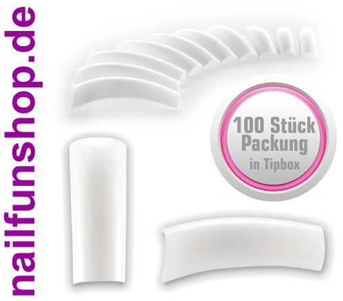 100 Stück French White Tips - ABS - in Tipbox