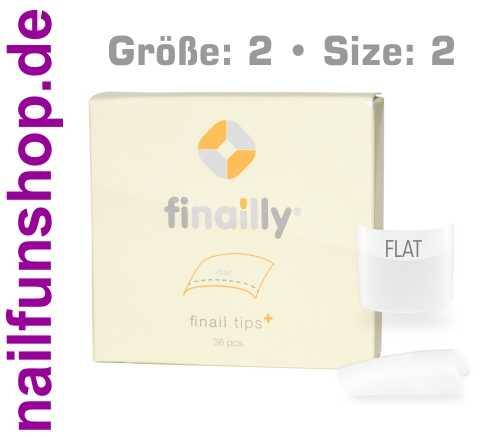 36 Ersatztips x-fit flat SIZE 2 für das Finail Fitting Tipsystem
