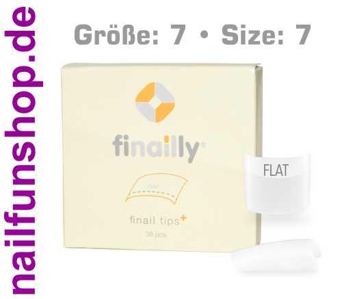 36 Ersatztips x-fit flat SIZE 7 für das Finail Fitting Tipsystem