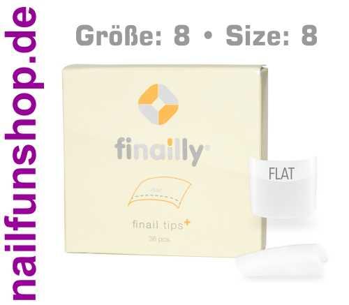 36 Ersatztips x-fit flat SIZE 8 für das Finail Fitting Tipsystem