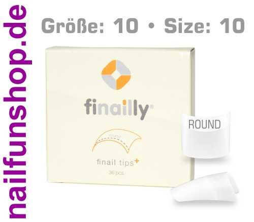 36 Ersatztips x-fit round SIZE 10 für das Finail Fitting Tipsystem